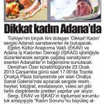 Adana Beş Ocak - 22.01.2013